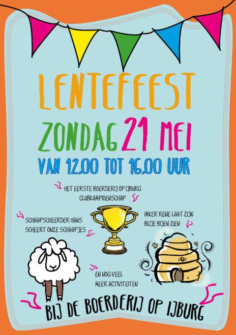 21 mei van 12 tot 16 uur Lentefeest bij de Boerderij op IJburg